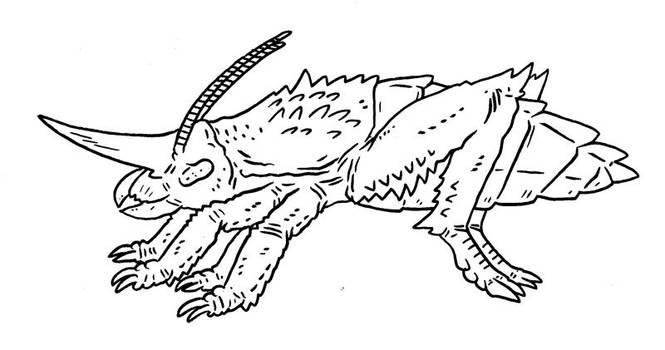 The Future is Wild - Rhinocust by Pristichampsus