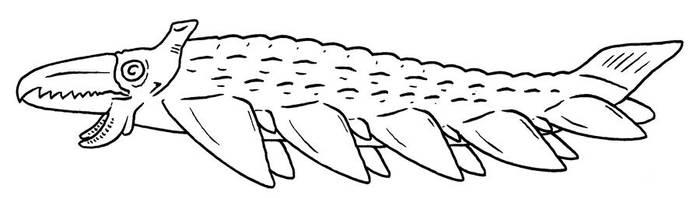 The Future is Wild - Loggerheaded Pikesquid by Pristichampsus
