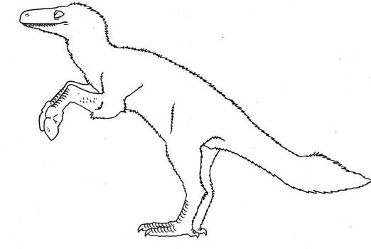 Club-handed basal-theropod for Memo by Pristichampsus