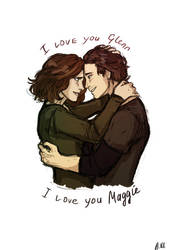 Glenn and Maggie) by drakonarinka