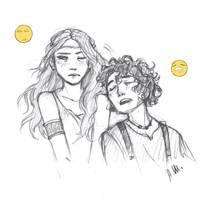 Calypso and Leo by drakonarinka
