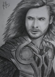 Thor + speed drawing by xGuppy