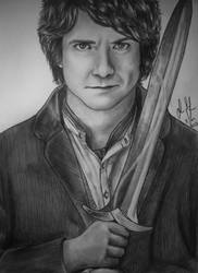 Bilbo Baggins + speed drawing by xGuppy