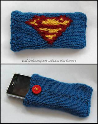 Superman Cellphone Cozy by Wildphoenix22