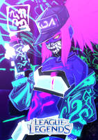 K/DA AKALI fanart (glowing) by Murdockh