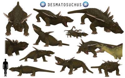 Spore Dinosaurs: Desmatosuchus by edmundpjc