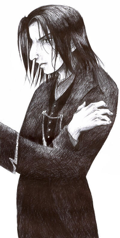 Severus Snape - ink sketch by salvador-dolly