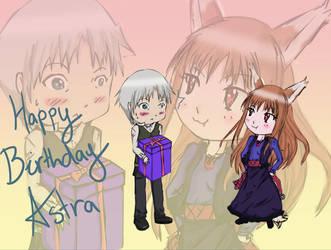 Happy Birthday Zenith Astra by BucketofSnapdragon