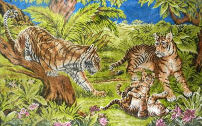 Tiger Tapestry Stock 01 by Vesperity