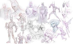 Sketch Attack: Bats by Quirkilicious