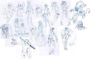 Sketch Attack: Concepts 2 by Quirkilicious