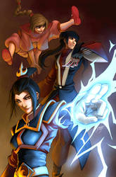 Fire Trio by Quirkilicious