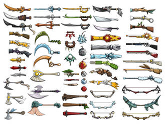 Weapon Concepts by Quirkilicious