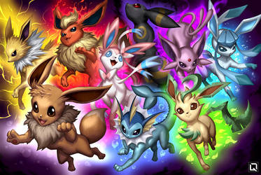 Eeveelution by Quirkilicious
