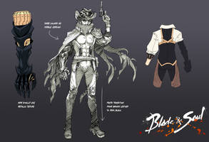 Blade and Soul Character Design Contest Male Ver by RobotCatArt