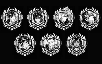 Overwatch Portraits Part I by RobotCatArt