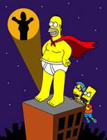 The Simpsons' Captain Underpants by streetgals9000