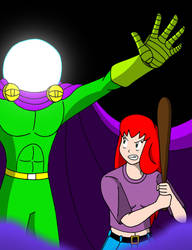MJ vs. Mysterio by streetgals9000