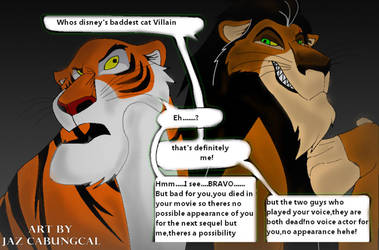 Shere Khan and Scar by JAZcabungcal