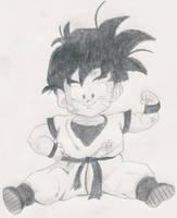 Kid Gohan Sketch by 1Meh1