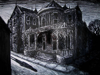spooky old house by hello-magpie
