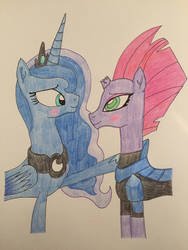 Luna and Tempest Shadow together  by Infernapelover