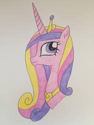 Princess Cadence Headshot by Infernapelover