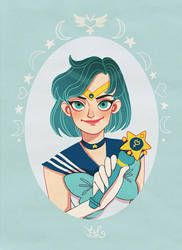 Sailor Mercury by DixieLeota