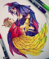 League of Legends - Rakan and Xayah by ShariKia