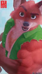 Hunky fox (Kody) by AnhesArt