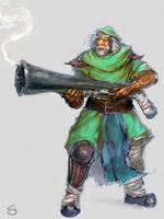 Dwarven Sniper DOTA Fan Art by SLabreche