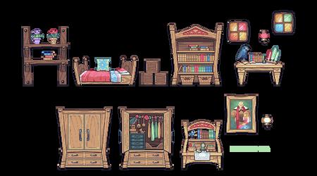 sidescroll furniture practice - Zelda's Room by Mediocre-Mel