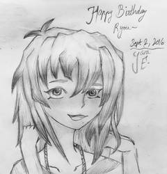 Happy Late Birthday, RYOU MY CHILD by cartoonlovinggal