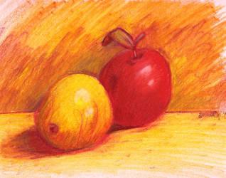Fruit stillLife sketch by Dark-Link-Kyra05