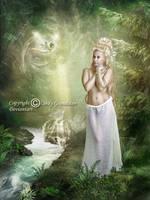 Hallo little fairy by CindysArt