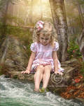 Hallo little frog by CindysArt