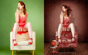 Strawberry Pinup by CindysArt