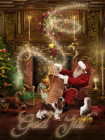 Merry Christmas my friends by CindysArt