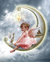 The angel on the moon by CindysArt