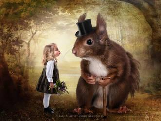 My Friend Mr. Squirrel by CindysArt