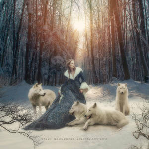 The white wolves by CindysArt