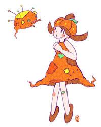 Pumpkin Girl by Teatime-Rabbit