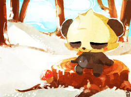 Day 3: Fighting- Pancham by Teatime-Rabbit