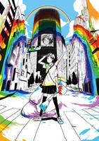 rainbow girl by yotube