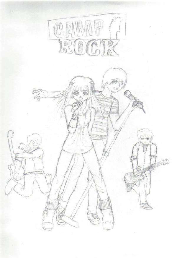 camp rock cover doodle by karai shio on deviantart