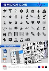 45 Medical icons by Sergey-Alekseev