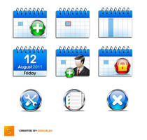Set of icons for calendar app. by Sergey-Alekseev