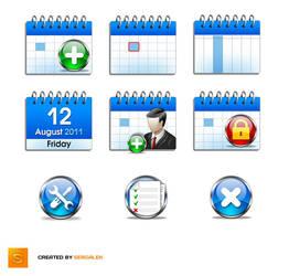 Set of icons for calendar app. by Sergey-Alekseev