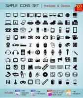 100 Simple Icons by Sergey-Alekseev