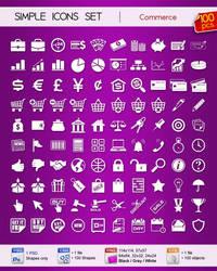 Set of simple Commerce icons by Sergey-Alekseev